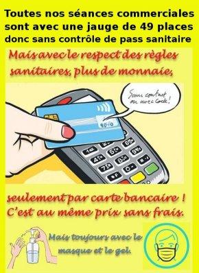 image Quand vous irez au cinéma, n'oubliez pas votre carte bancaire, ou votre(...)